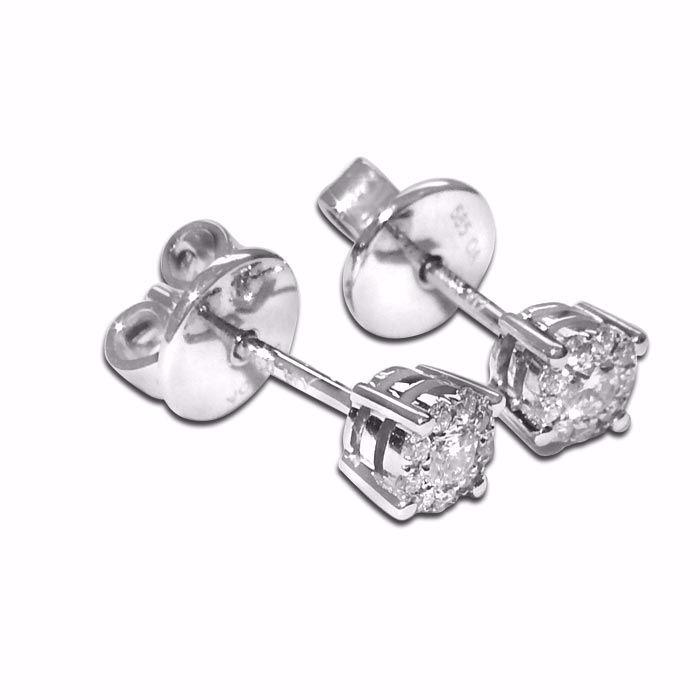 Diamant øredobber i gull med 0,16 ct -30705881857