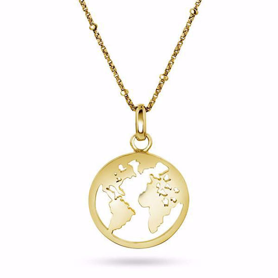 Smykke i sølv verdens kart - 990152