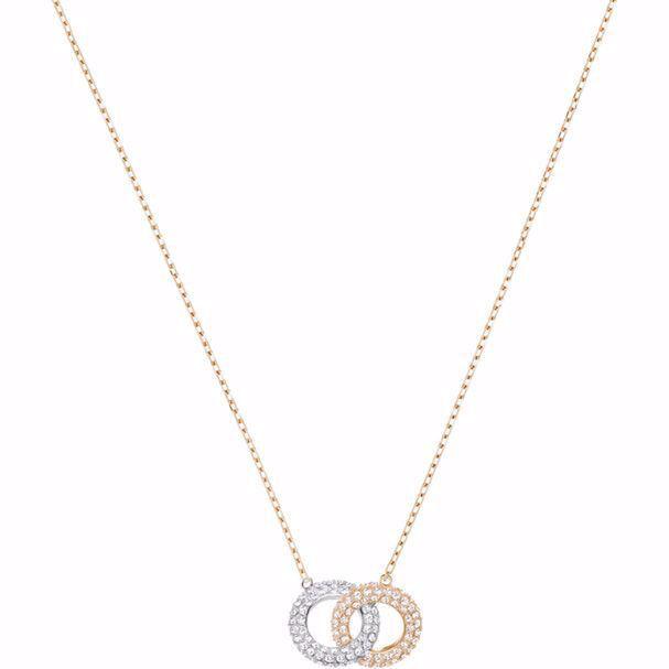 Swarovski smykke Stone Necklace, Multi-colored, Rose-gold tone plated - 5414999