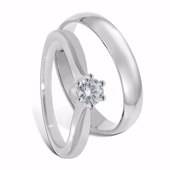 Giftering & diamantring 0,20 ct gull 14kt, 4 mm - 1340-COC00986
