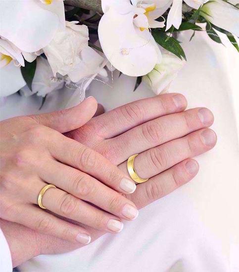 illustrasjon med hånd av gifteringer  -115300500