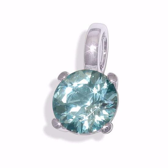 Smykke i hvitt gull med blå topas -BUR796362