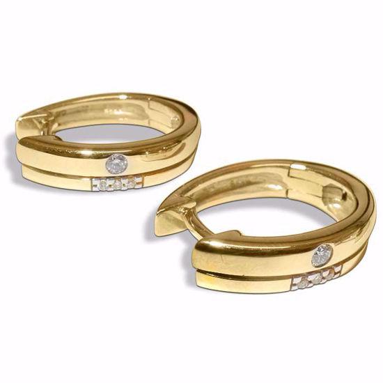 Diamant øredobber i gult & hvitt gull - 552939966