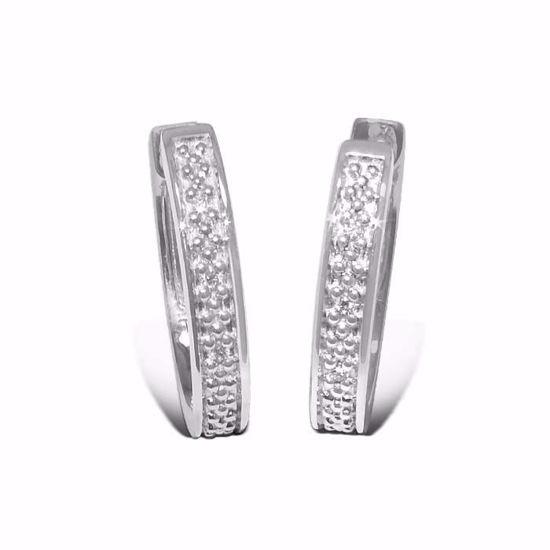 Diamant øredobber i hvitt gull - 7369374