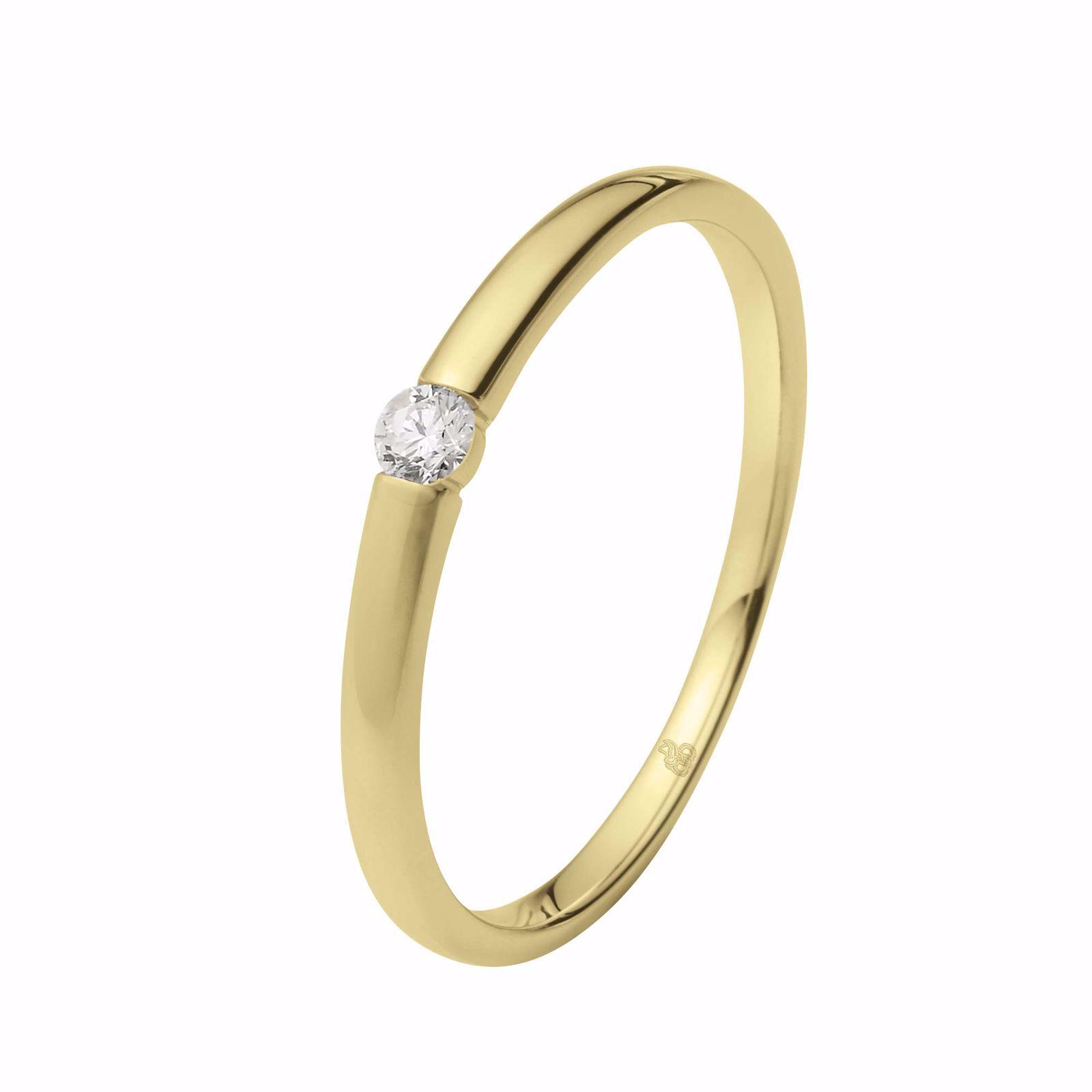 Enstens diamantring Ja! med 0,06 ct TW-Si i 14kt gull - 51000270