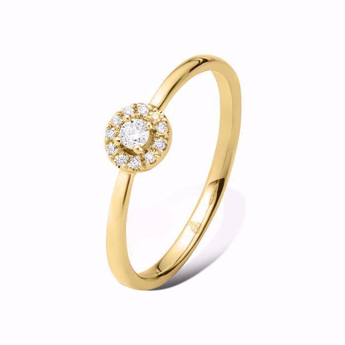 Diamantring Ja! med 0,12 ct TW-Si i 14kt gull -51000220