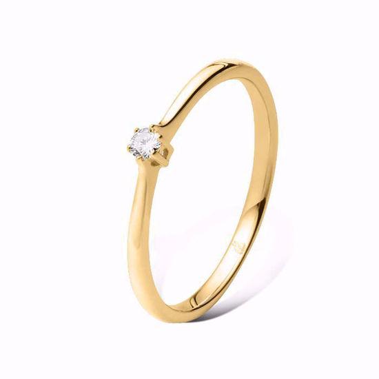 Enstens diamantring Ja! med 0,06 ct i 14kt gull. TW-Si. -51000120