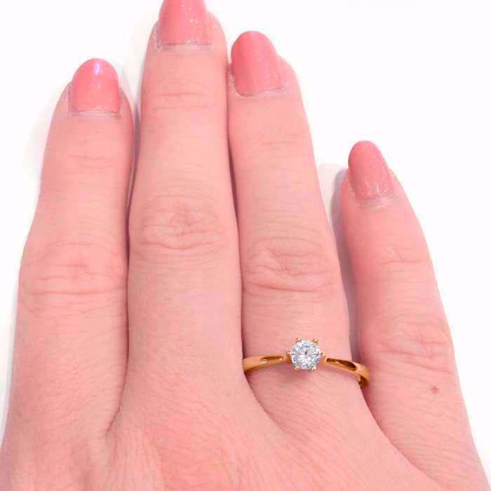 Enstens diamantring Ja! med 0,21 ct i 14kt gull. TW-Si. -51000150
