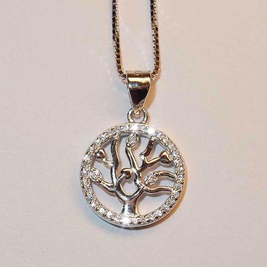 Smykke i sølv med zirkonia - 990595
