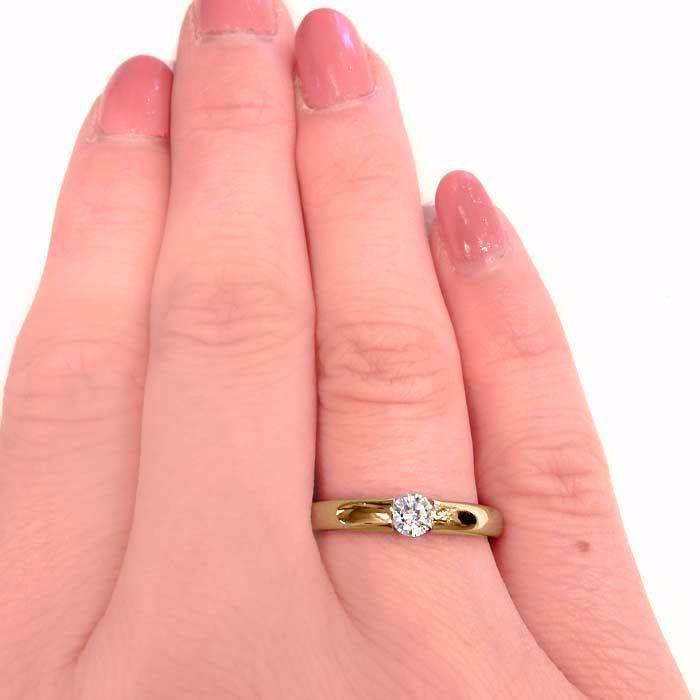 Enstens diamantring Ja! med 0,21 ct i 14kt gult gull. TW-Si. -51000300
