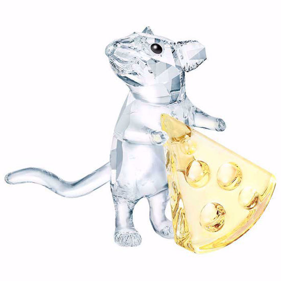 Swarovski figurer. Mouse with cheese - 5464939