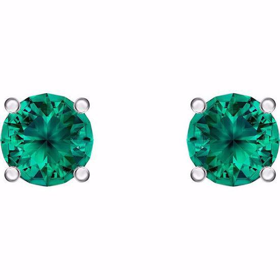 Swarovski øredobber Attract Stud, grønn - 5512384