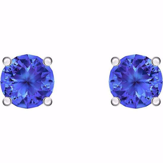 Swarovski øredobber Attract Stud, blå - 5512385