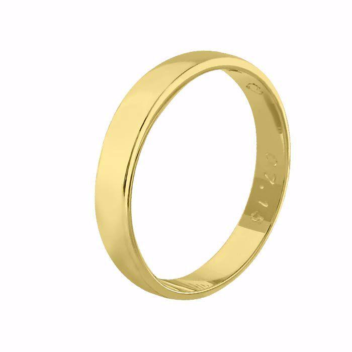 Giftering til herre i gult gull 14kt, 4 mm. OREST modell 115 - 115040