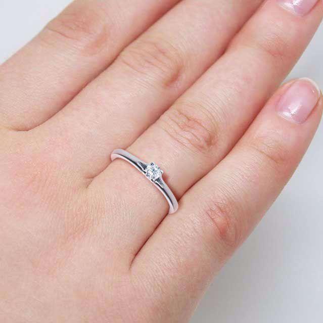 Diamantring forlovelsesring 0,20 ct i 14kt gull. TW-Si. -18020020