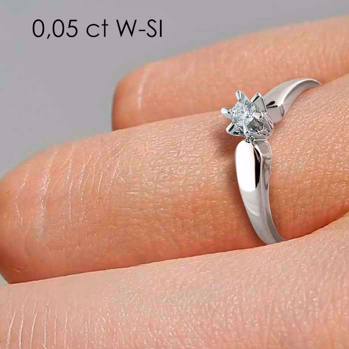 Diamantring forlovelsesring  Sofia 0,05ct W/SI-120705