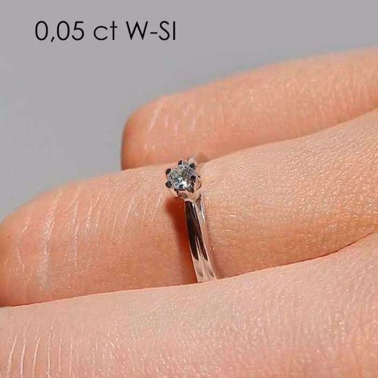 Diamantring forlovelsesring Sitara 0,05ct W/SI -222105