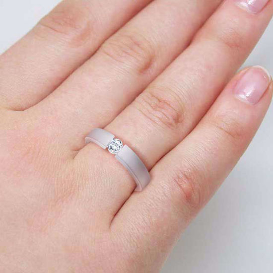 Diamantring forlovelsesring  0,20 ct i 14kt gull. TW-Si. -18012020