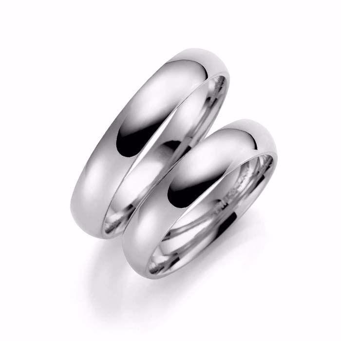 Samboerringer i sølv, 4 mm. ESPELAND - SE105SI40