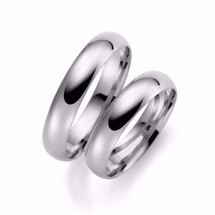 Samboerringer i sølv, 4 mm. ESPELAND - SE104SI40