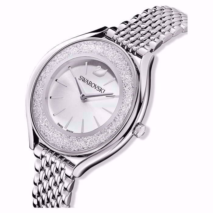 Swarovski klokke Crystalline Aura, hvitt - 5519462
