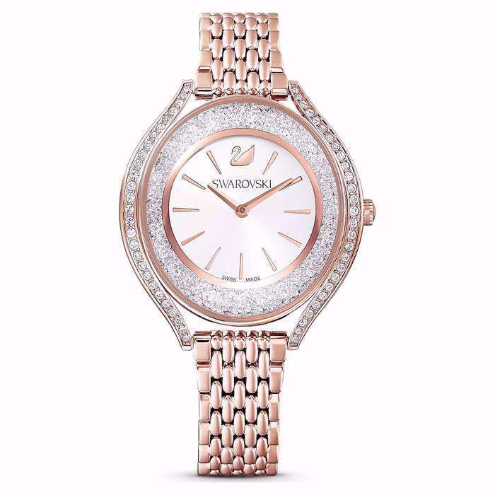 Swarovski klokke Crystalline Aura, rose - 5519459