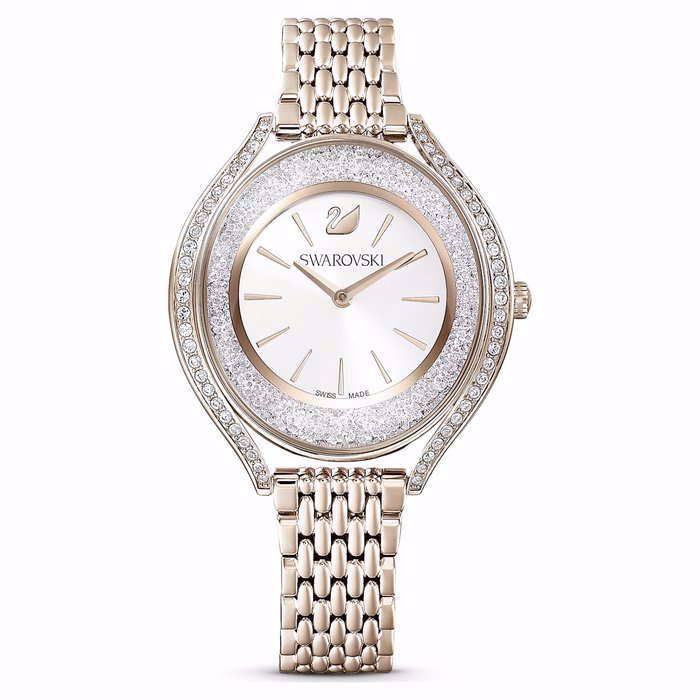 Swarovski klokke Crystalline Aura, gult - 5519456