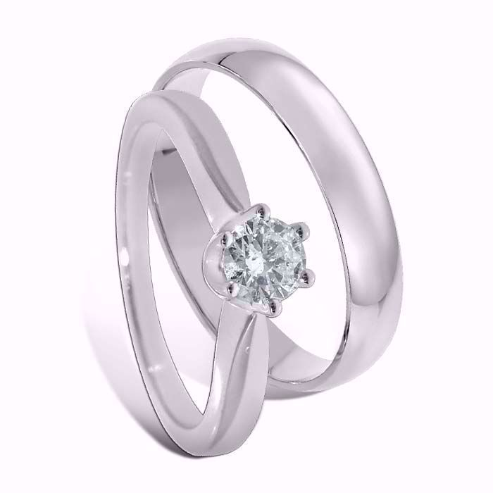Giftering & diamantring 0,30 ct gull 14kt, 4 mm - 1340-COC00988