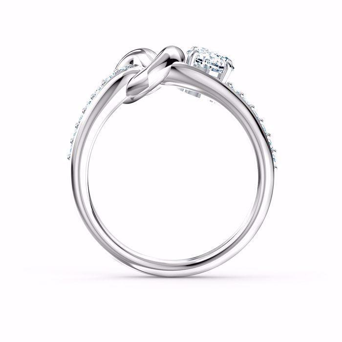 Swarovski ring Lifelong Heart, hvitt - 5535399