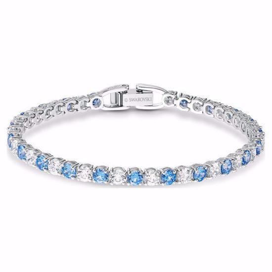 Swarovski armband Tennis Deluxe, blå - 5536469