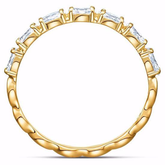 Swarovski ring Vittore Marquise, gult - 5535359