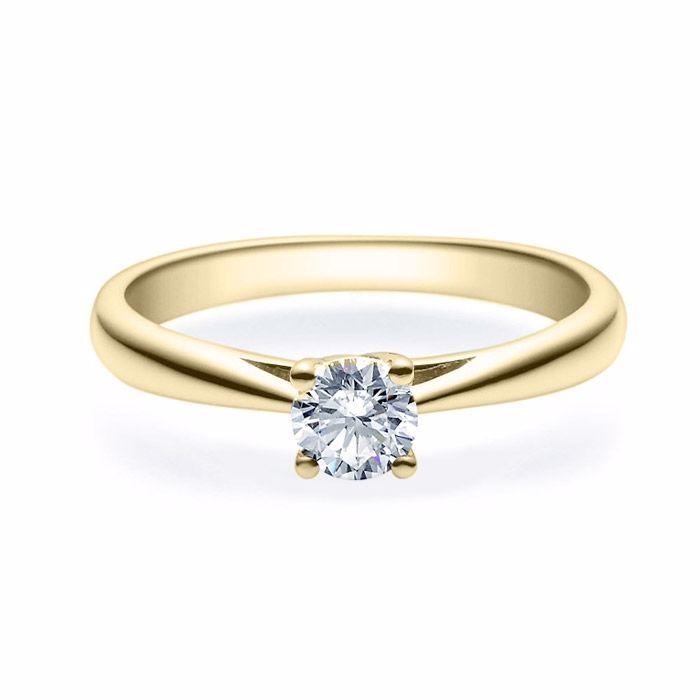 Enstens diamantring Alida 14 kt gull med 0,40 ct TW-Si.Magic Moments -18002040