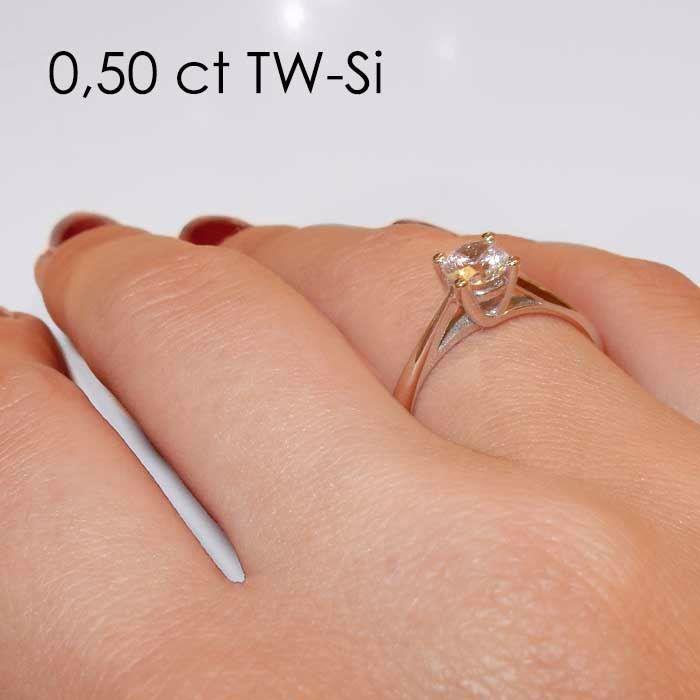 Enstens diamantring Alida med 0,40 ct TW-Si i 14kt gull - 18002040