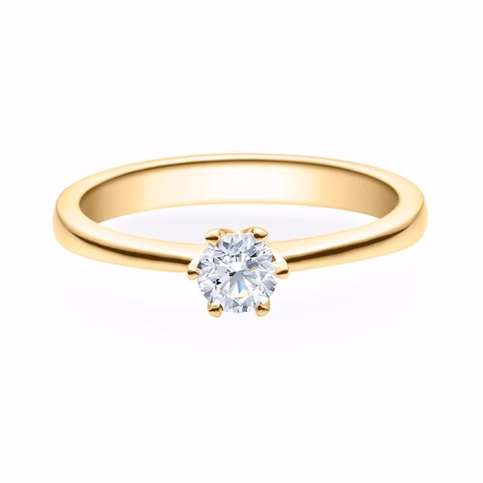Enstens diamantring Aida med 0,30 ct i 14kt gull. TW-Si. -180160300