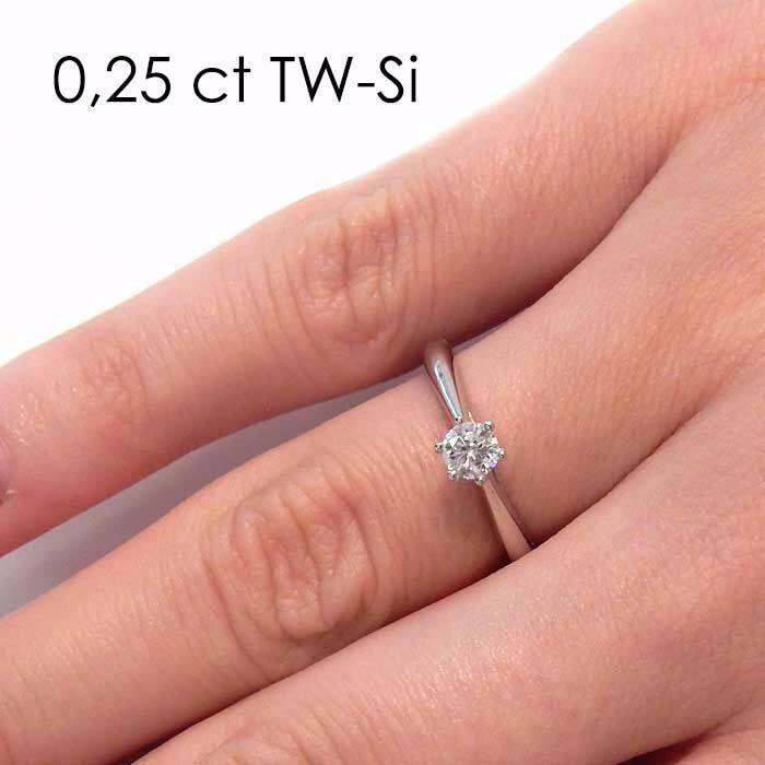 Enstens diamantring Leticia med 0,30 ct i 14kt gull. TW-Si. -180070300