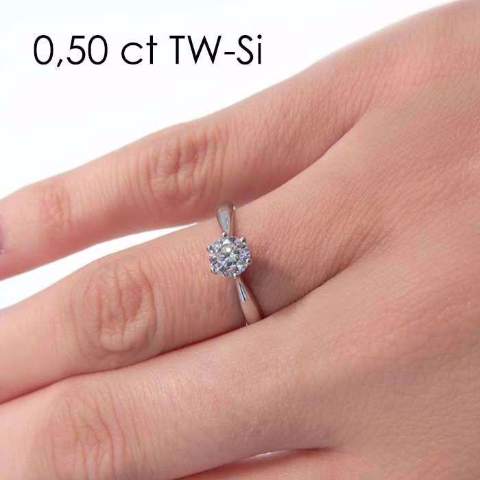 Enstens diamantring Leticia med 0,50 ct i 14kt gull. TW-Si. -180070500