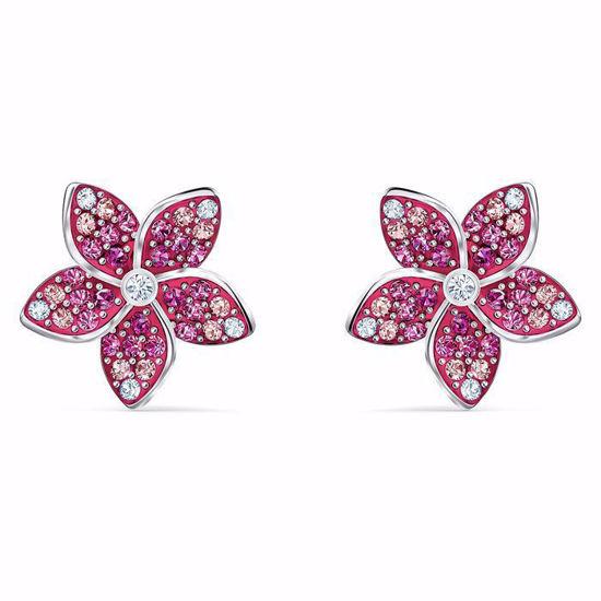 Swarovski øredobber Tropical Flower, rosé - 5519254