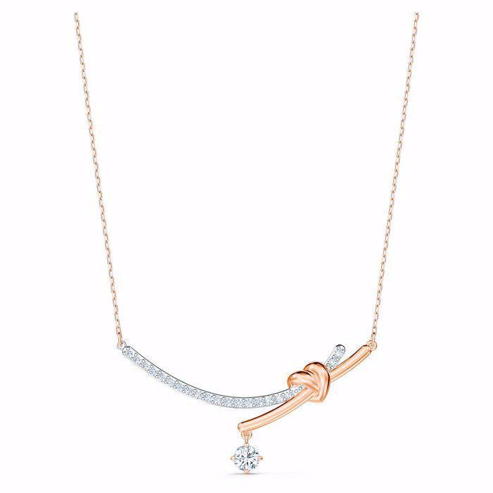 Swarovski smykke Lifelong Heart Necklace, White, Mixed metal finish  - 5517951