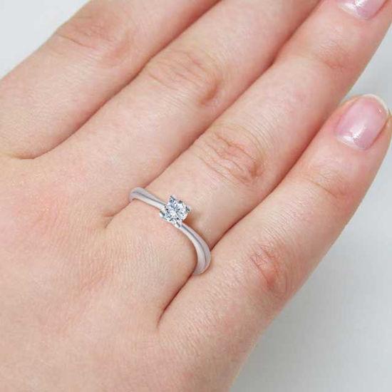 Diamantring forlovelsesring Melina 0,20 ct i 14kt gull. TW-Si. -18011020