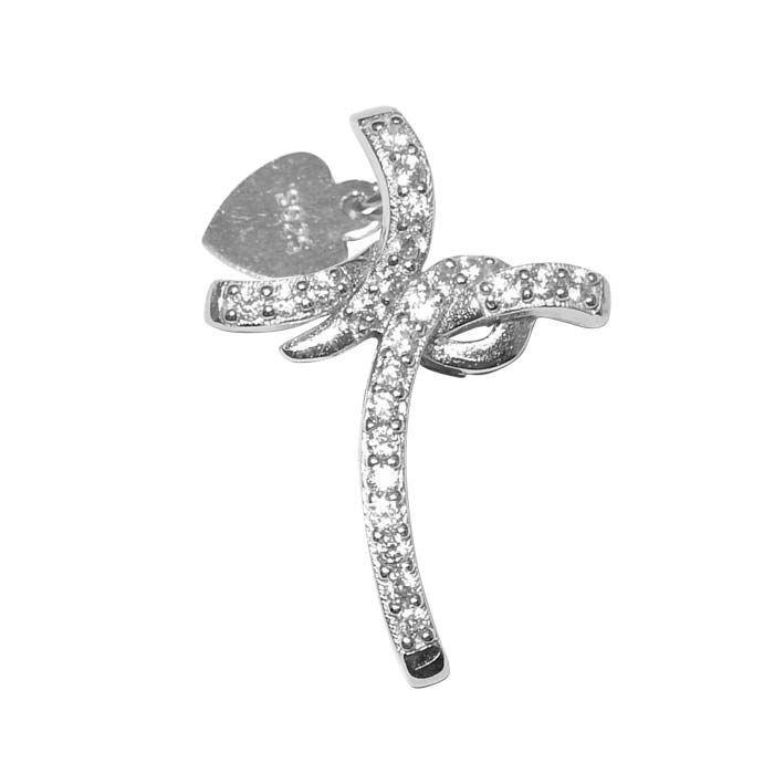 Kors i sølv med zirkonia -300120