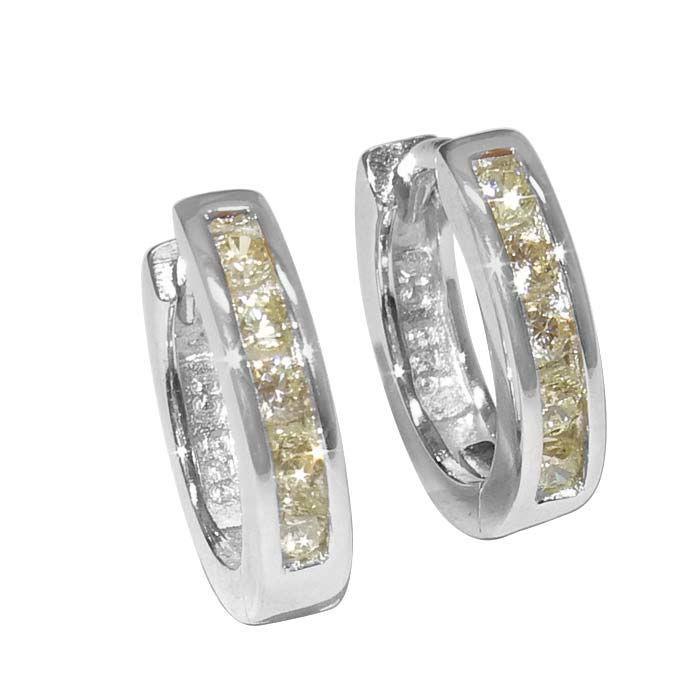 Sølv øreringer med  zirkonia - 24999