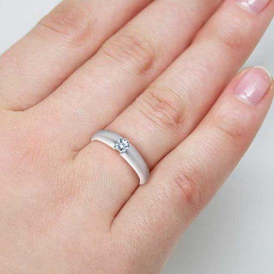 Diamantring forlovelsesring  0,20 ct i 14kt gull. TW-Si. -18006020