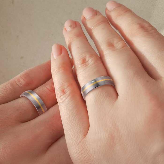 illustrasjon med hånd av gifteringer – 1150581