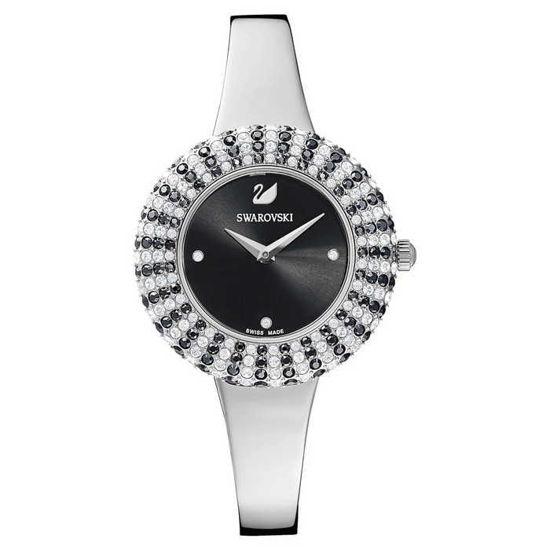 Swarovski klokke Crystal Rose, svart - 5484076
