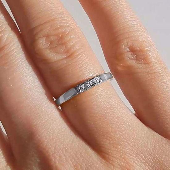 Forlovelsesring diamantring Iselin 3x0,03 ct TW-Si-8503030