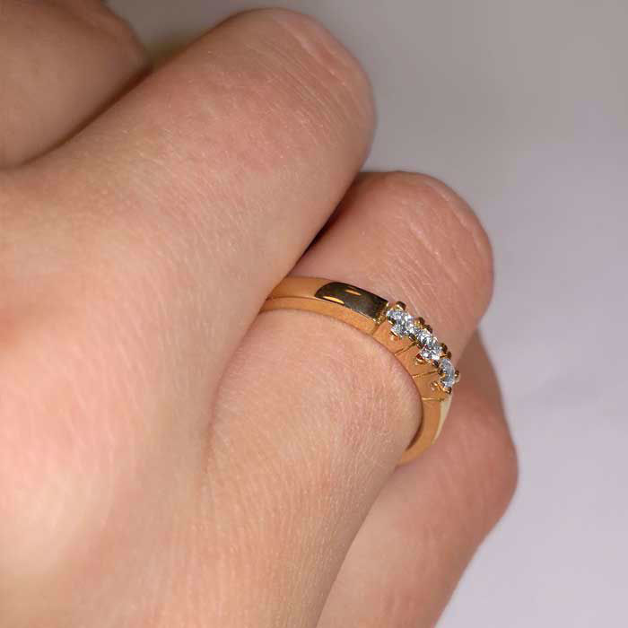 Forlovelsesring diamantring Iselin 3x0,05 ct TW-Si-85030500