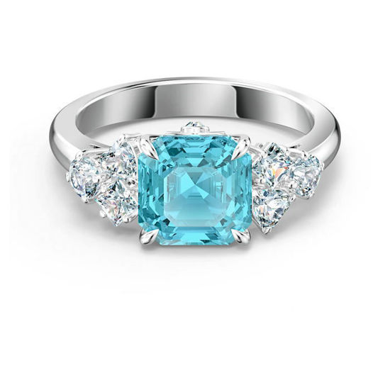Swarovski ring Sparkling, aqua - 5524141