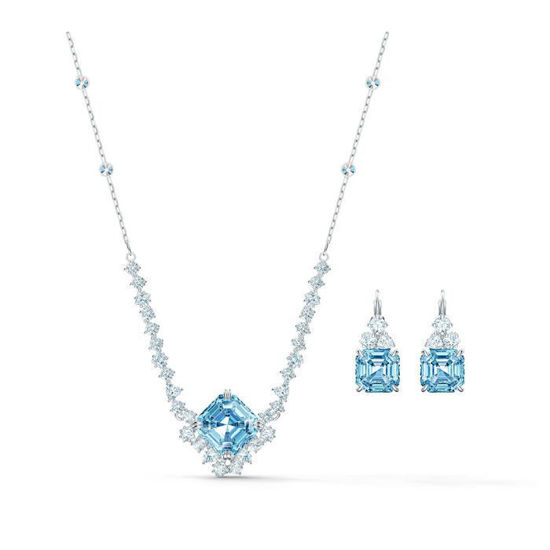 Swarovski smykkesett Sparkling, aqua - 5525354