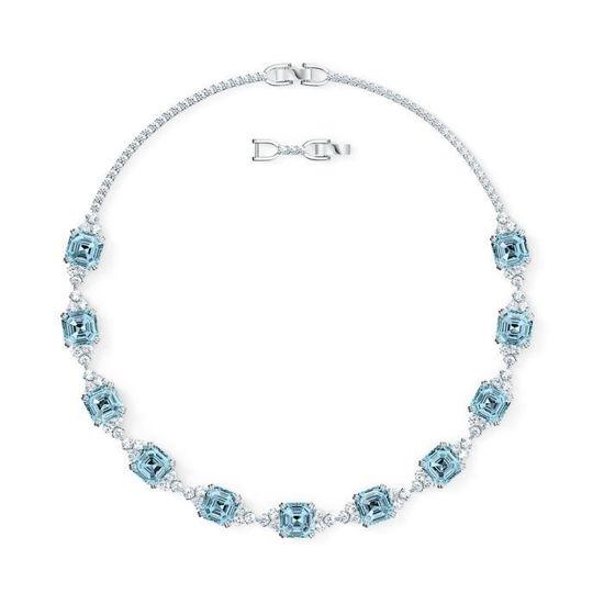 Swarovski collier Sparkling, aqua - 5528875