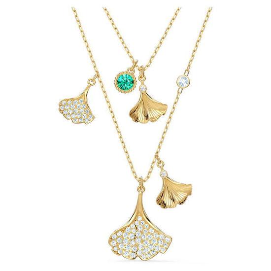 Swarovski smykke Ginko Layered, gult - 5527079